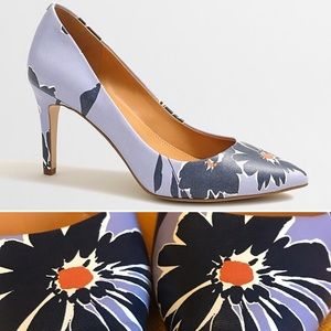 J. Crew Isabelle Floral Pumps in Navy & Blue -OBO